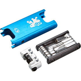Crankbrothers F15 Lion Edition Multitool, blue/silver